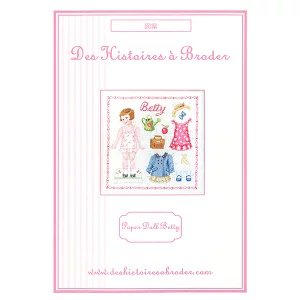 Paper doll Betty Fiche (ベティペーパードール) クロスステッチ 図案