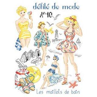 Fashion show N°10-Les maillots de bain (水着)図案
