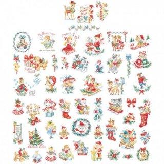 La grande histoire de Noel Vintage N°3 (クリスマス ヴィンテージ 54のモチーフ) 図案