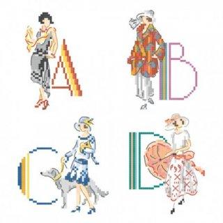 Le grand ABC des annees folles (レザネフォール 26のモチーフ) 図案