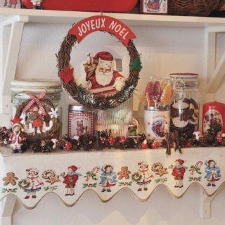 リネン Christmas goodies(クリスマスグッズ) スカラップバンド クロスステッチキット