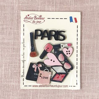 フランス 木製ボタンセット - Paris-Love