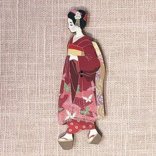 フランス製 木製ボタン 日本図柄