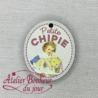 フランス製 木製ボタン chipie小さなおてんばさん