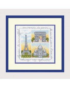 ル・ボヌール・デダム クロスステッチキット Souvenirs De Paris パリ アイーダ
