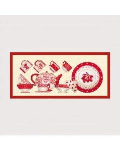 ル・ボヌール・デダム クロスステッチキット  Vaisselle Rouge 赤い食器 アイーダ