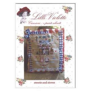 Lilli Violet リリーバイオレット Sweets and Stoves お菓子とストーブ クロスステッチ図案