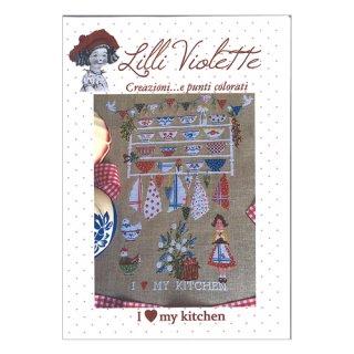 Lilli Violet リリーバイオレットI love my kitchen キッチン クロスステッチ図案