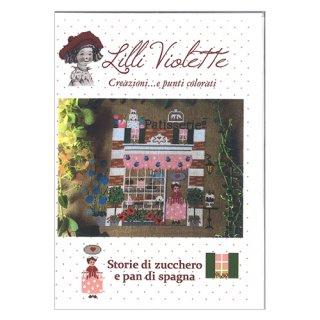 Lilli Violet リリーバイオレット Pan di Spagna e di zucchero ケーキ屋さん クロスステッチ図案