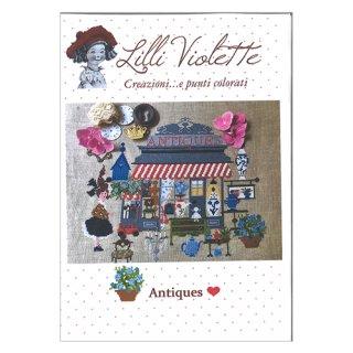 Lilli Violet リリーバイオレット Antiques アンティーク クロスステッチ図案