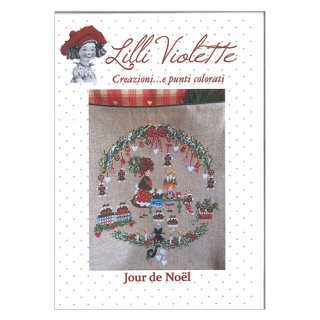 Lilli Violet リリーバイオレット jour de noel クリスマス クロスステッチ図案
