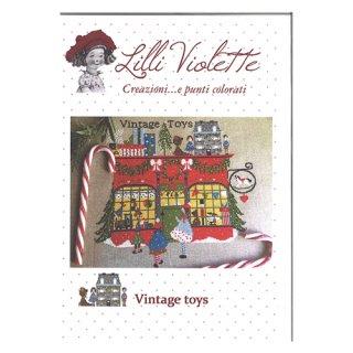 Lilli Violet リリーバイオレットVintage toys おもちゃ屋さん クロスステッチ図案