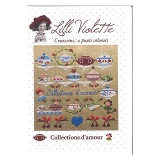 Lilli Violet リリーバイオレットCollection'd amour 私のコレクション ディゴワン クロスステッチ図案