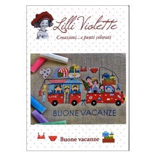 Lilli Violet リリーバイオレット Buone vacanze 幸せな休日 クロスステッチ図案