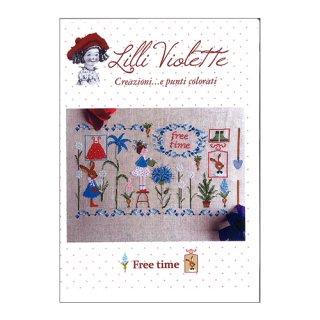 Lilli Violet リリーバイオレット  Free time 自由時間 クロスステッチ図案