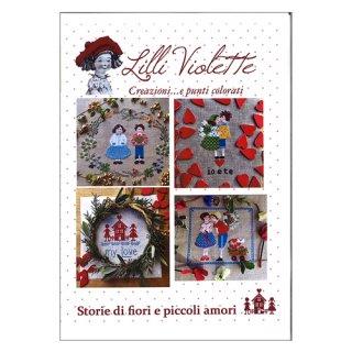 Lilli Violet リリーバイオレット  Storie di e piccoli amori2 小さな恋の物語2 クロスステッチ図案(4柄入り)
