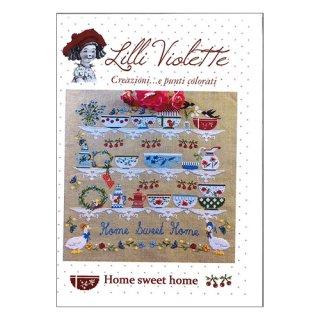 Lilli Violet リリーバイオレット Home sweet home ホームスイートホーム クロスステッチ図案