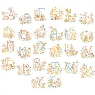 Le grand ABC  《Lapinous》(うさぎアルファベット)図案