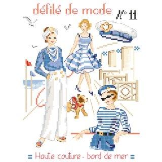[新作]Fashion show N°11-Haute couture-bord de mer(シーサイド)図案