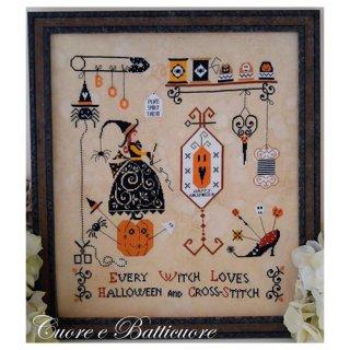 イタリア Cuore e baticuore(クオーレエバッティクオーレ) クロスステッチ図案 Halloween and Cross-Stitch ハローウィンとクロスステッチ