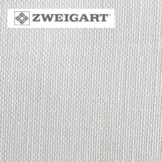 【ドイツ】ツバイガルト(ZWEIGART)クロスステッチ用生地 カシェル リネン28カウント ホワイト(50x140cm)