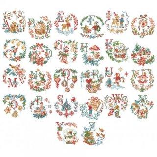 [新作]Le grand ABC de Noel (クリスマスアルファベット)図案