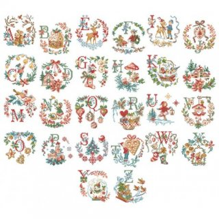 Le grand ABC de Noel (クリスマスアルファベット)図案