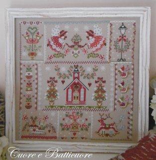 クロスステッチ図案 Christmas in Quilt キルトのクリスマス<br>