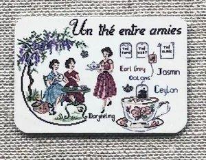 フランス デジィストワールアブロデ・ニードルマインダー(針おき)Un the entre amies(友達とお茶)