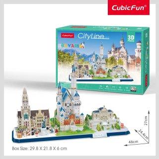 3Dパズル ドイツ バイエルンの街並み