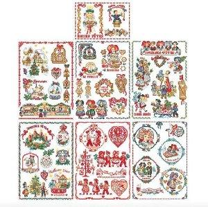 クロスステッチ図案 A special story of Christmas in Alsace(クリスマス・スペシャルアルザス)50のモチーフ図案集