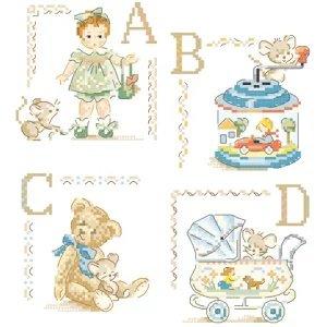Old toys Alphabet Chart(オールド トーイ アルファベット チャート) 26のモチーフ図案集