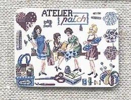 フランス デジィストワールアブロデ・ニードルマインダー(針おき)Atelier patch(パッチワークショップ)
