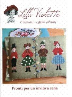 Lilli Violet リリーバイオレット 図案 pronti per un invito a cena 夕食の招待状の準備ができました