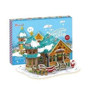 3D パズル クリスマス デザートショップ