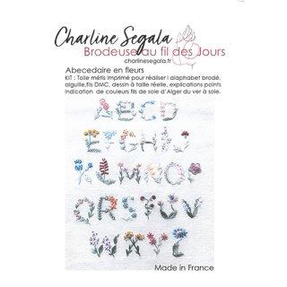 フランス Charline Segala 刺繍キット アルファベットフラワー