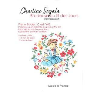 フランス Charline Segala 刺繍キット夏が来た!