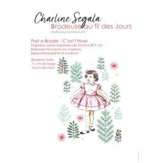 フランス Charline Segala 刺繍キット 冬が来た