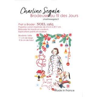 フランス Charline Segala 刺繍キット NOEL 1965