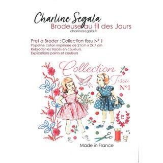 フランス Charline Segala 刺繍キット ファブリックコレクションN1 鳥と刺繍