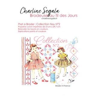 フランス Charline Segala 刺繍キット ファブリックコレクションN2 蝶々と刺繍