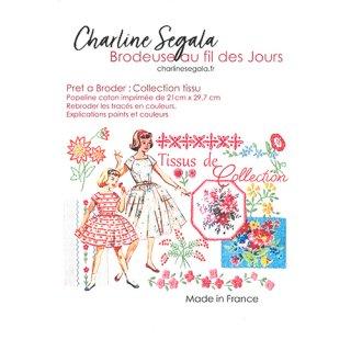 フランス Charline Segala 刺繍キット ファブリックコレクション フラワー