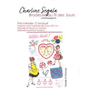 フランス Charline Segala 刺繍キット 自然と女の子