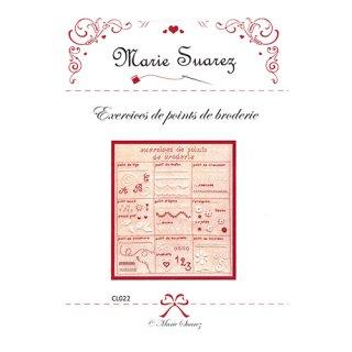 Marie Suarez Exercise de points de broderie『刺繍の練習』上級者