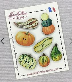 フランス製 木製ボタン かぼちゃ