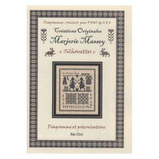 マージョリーマッシー(Marjorie Massey)図案Silhouettes シルエット<br>フランス語説明書のみ