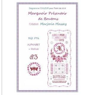 クロスステッチ図案 Marquoir Presentoir de Boutons ボタン
