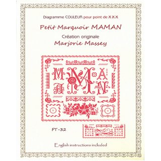 クロスステッチ図案 Petit marquoir MAMAN( 小さいサンプラーママン)