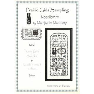 クロスステッチ図案Prairie Girls Sampler and Needle thread cushion(チャート2種類入り)