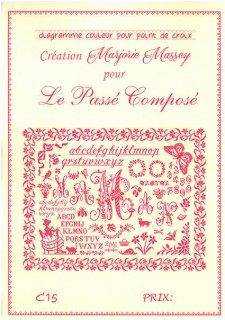 クロスステッチ図案 Le passe compose( 過去形)